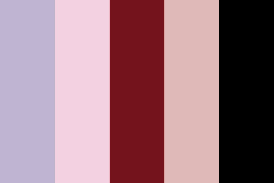 Dusty Purple And Burgundy Color Palette