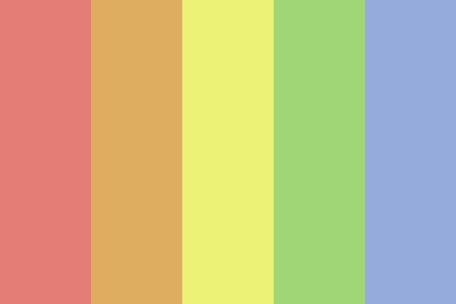 Dusty Rainbow Heck Color Palette