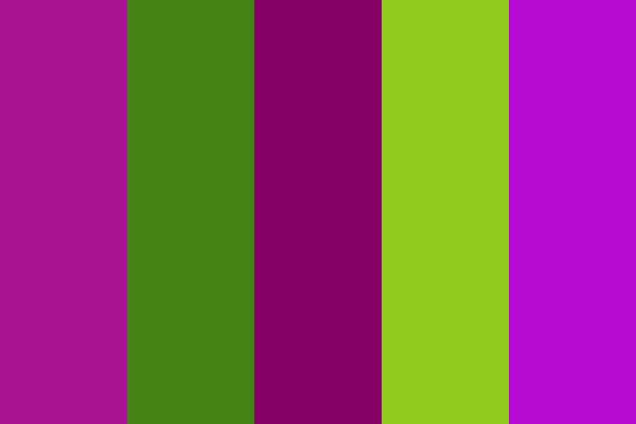 Eggplant Flower Color Palette
