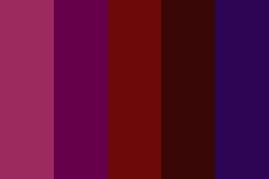 Elementary Burgundy Color Palette