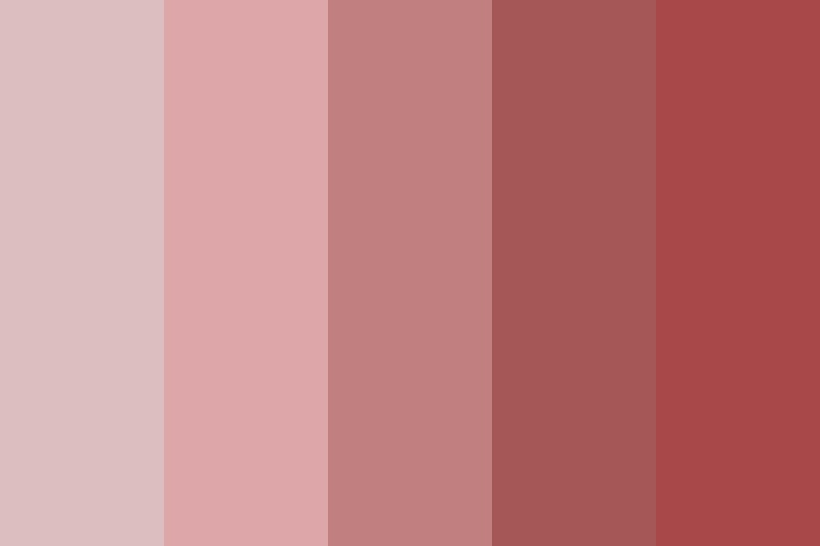 English Red Rose Color Palette