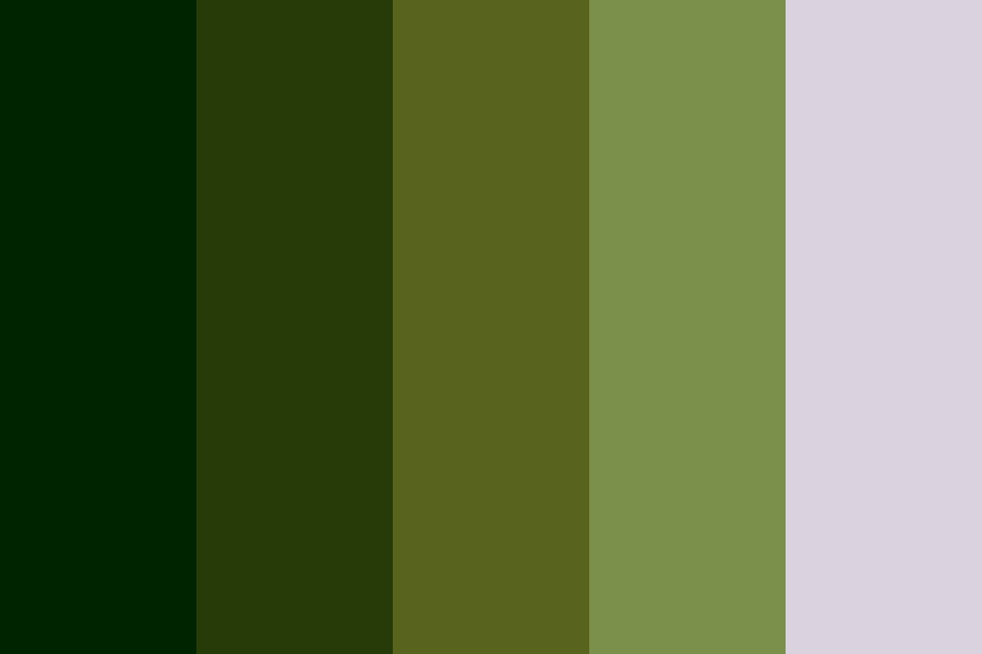 Envious Greens Color Palette
