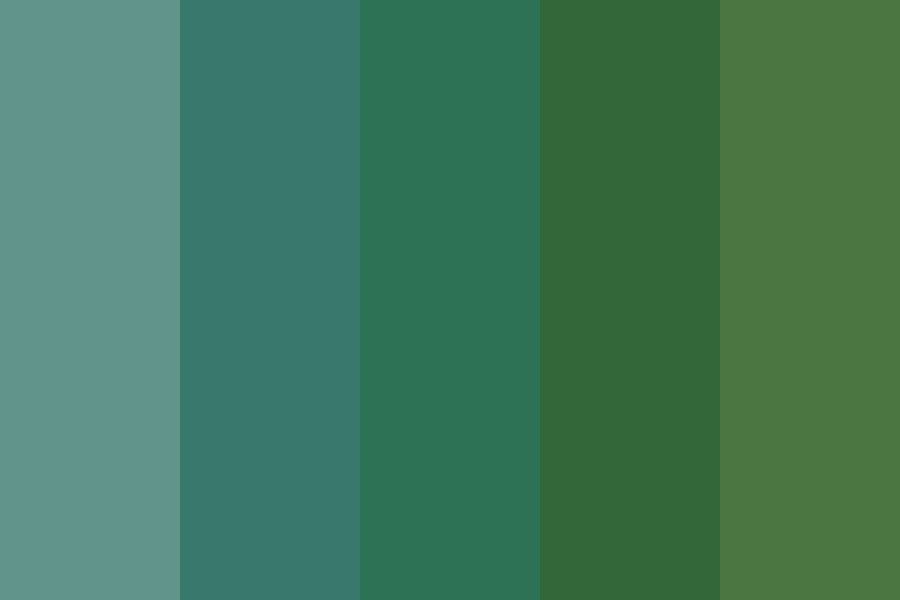 Evergreen Trees Color Palette