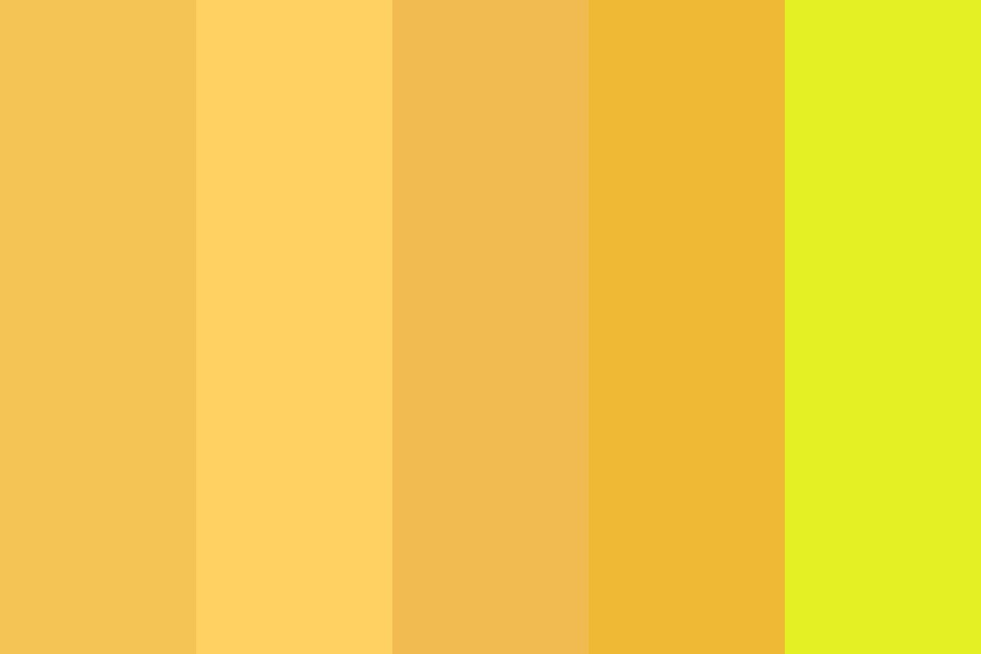 Fade Yellow Color Palette