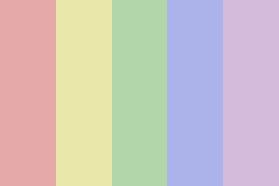 Faded Rainbow Color Palette