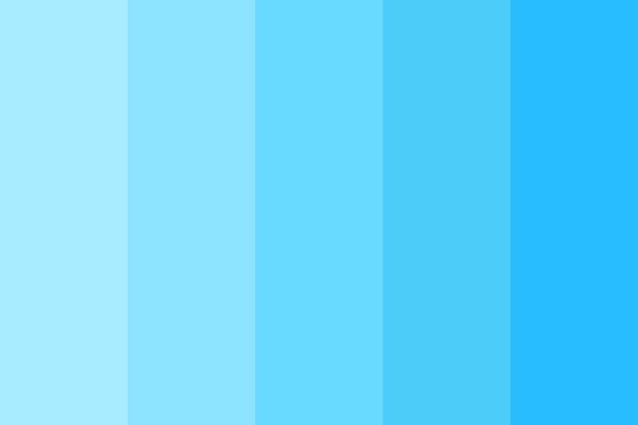 Fading Baby Blue Color Palette