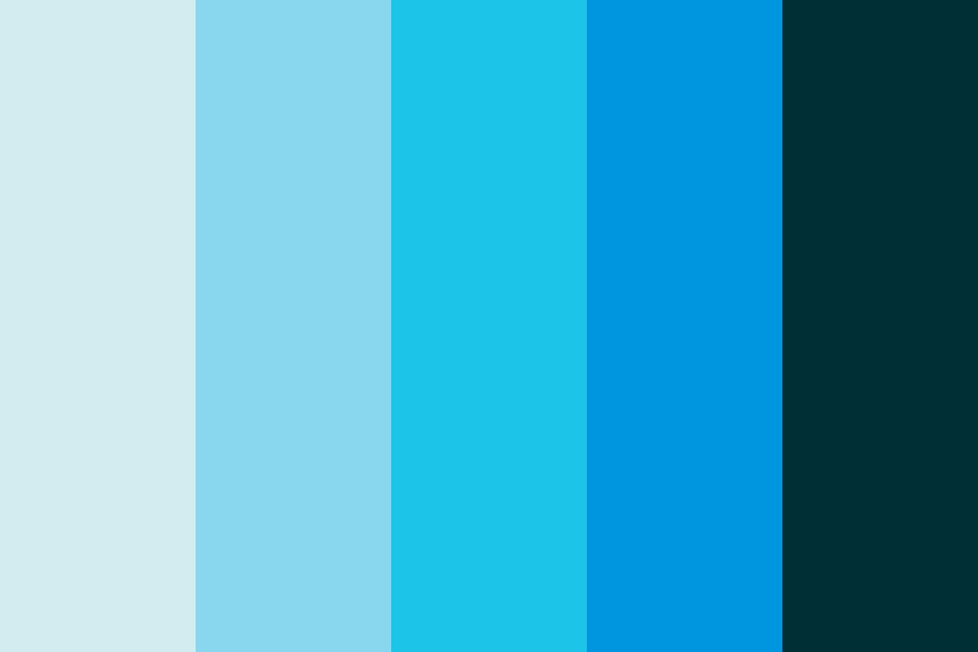 Fading Blue Color Palette