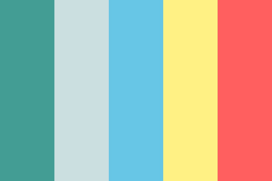 Faint Rainbow Over The Sea Color Palette