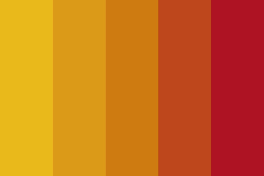 Fall Gradient Color Palette