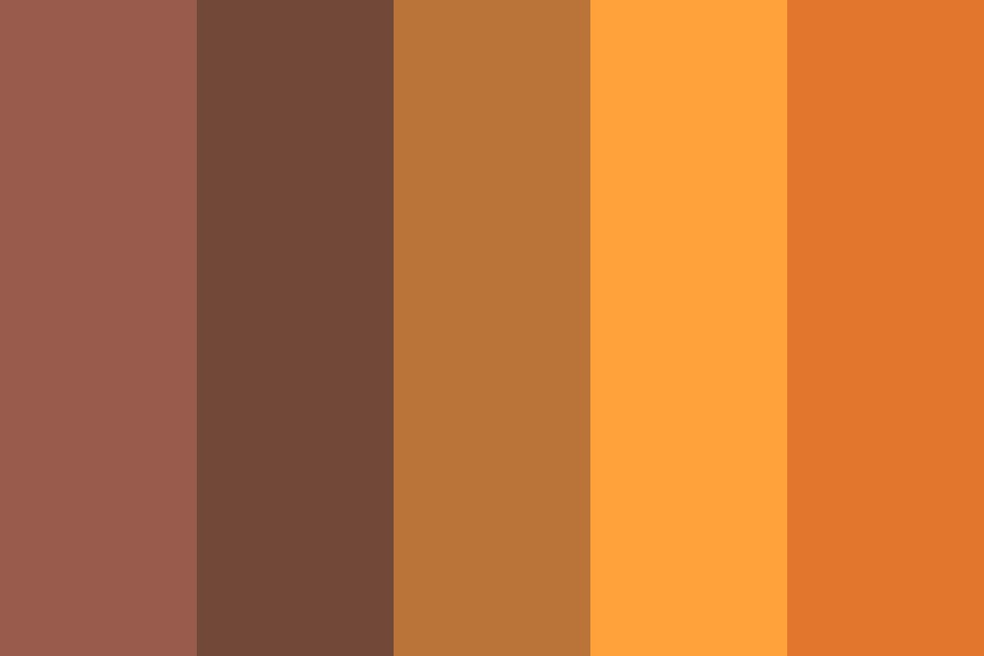 Fall On Fire Color Palette