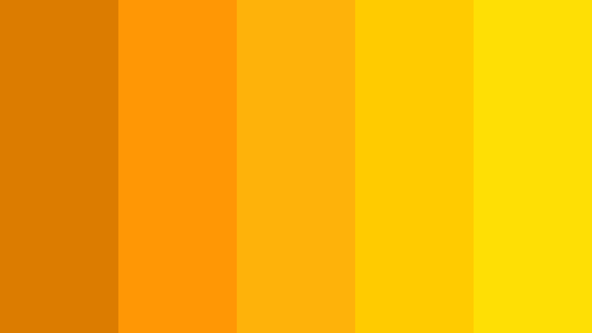 Fall Yellow Color Palette