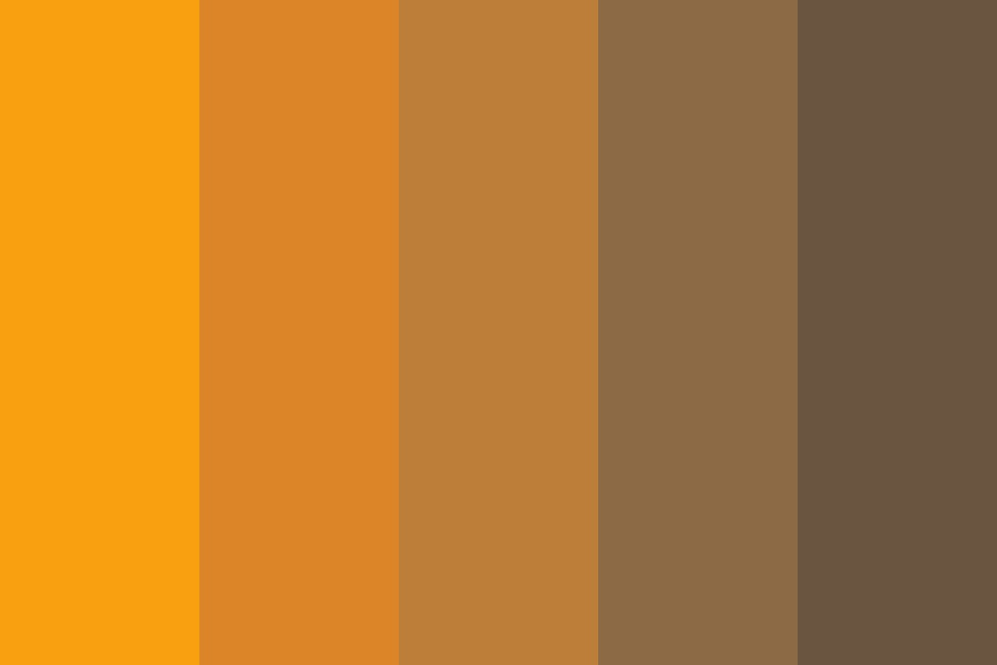 Falling Leaves Autumn Breeze Color Palette