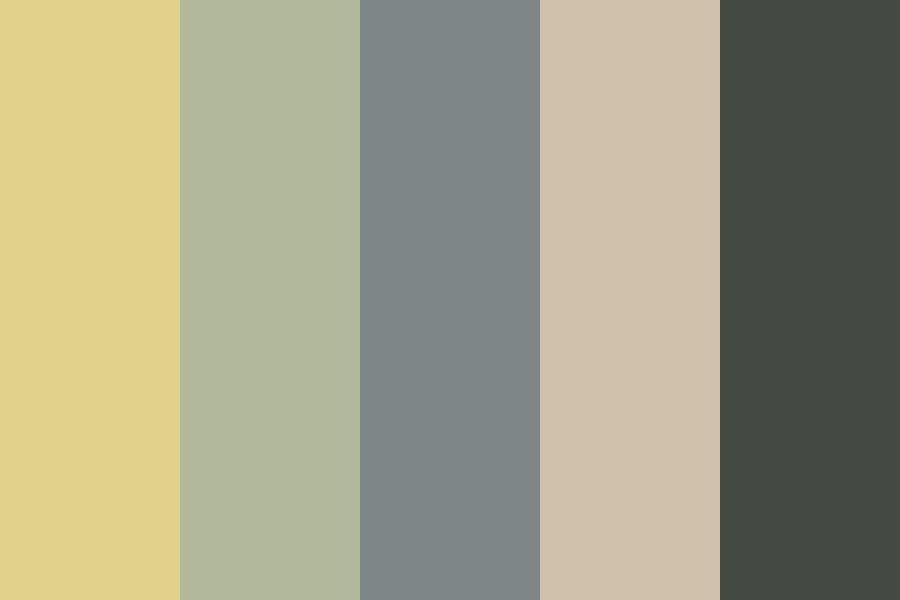 Feint Gold And Old Silver Color Palette