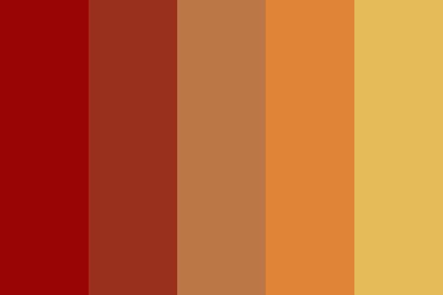 Fire From The Tongues Of Liars Color Palette