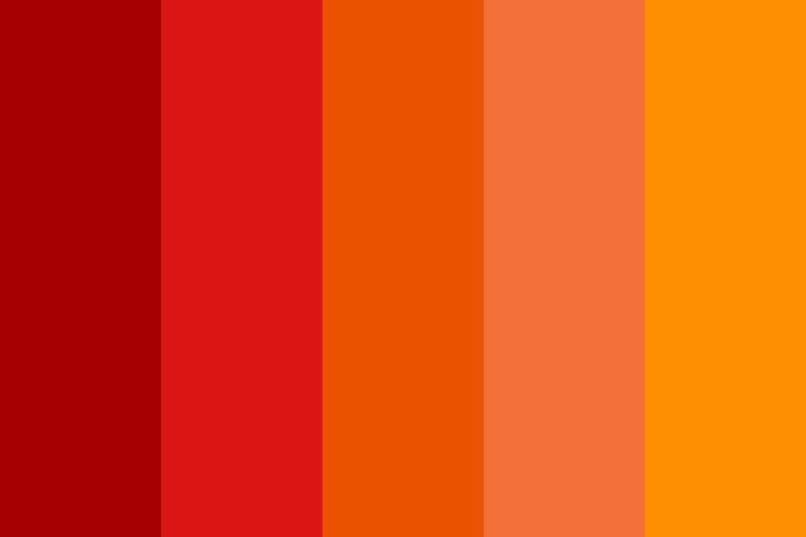 Fire In The Sky Color Palette