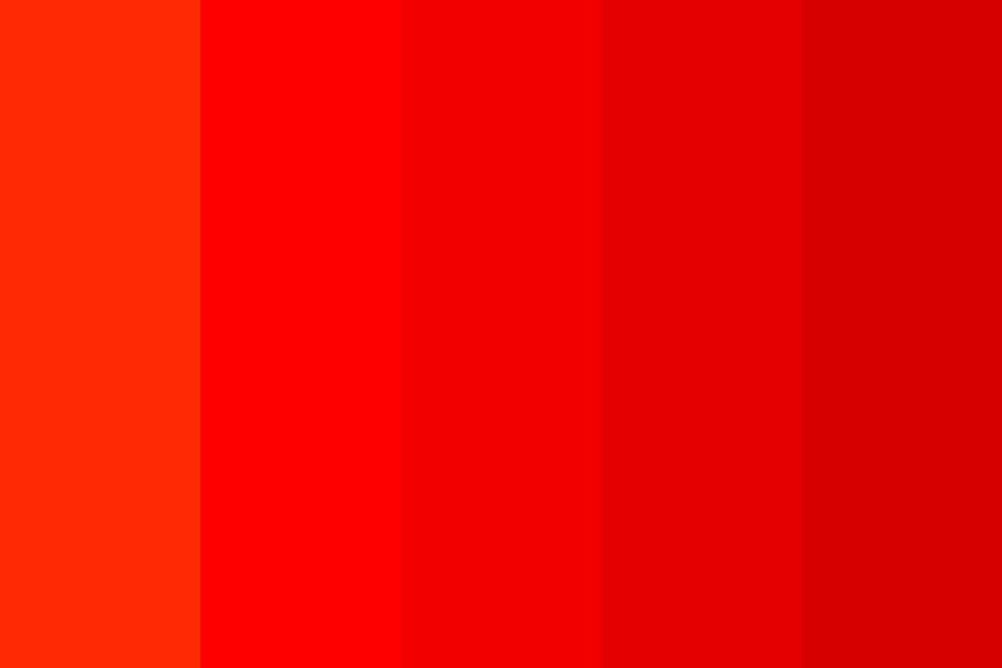 Fire Red Color Palette
