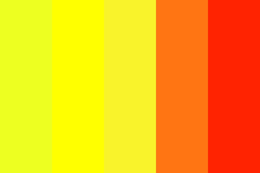 Fire Safety Color Palette