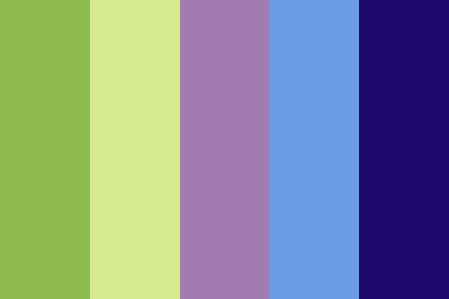 Five Coloured Afghan Color Palette