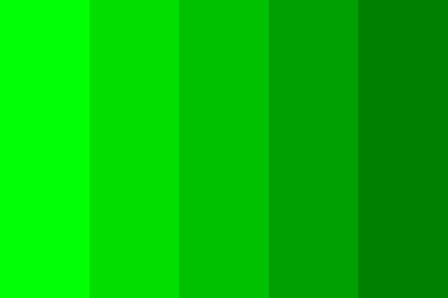 Five Green Shades Color Palette