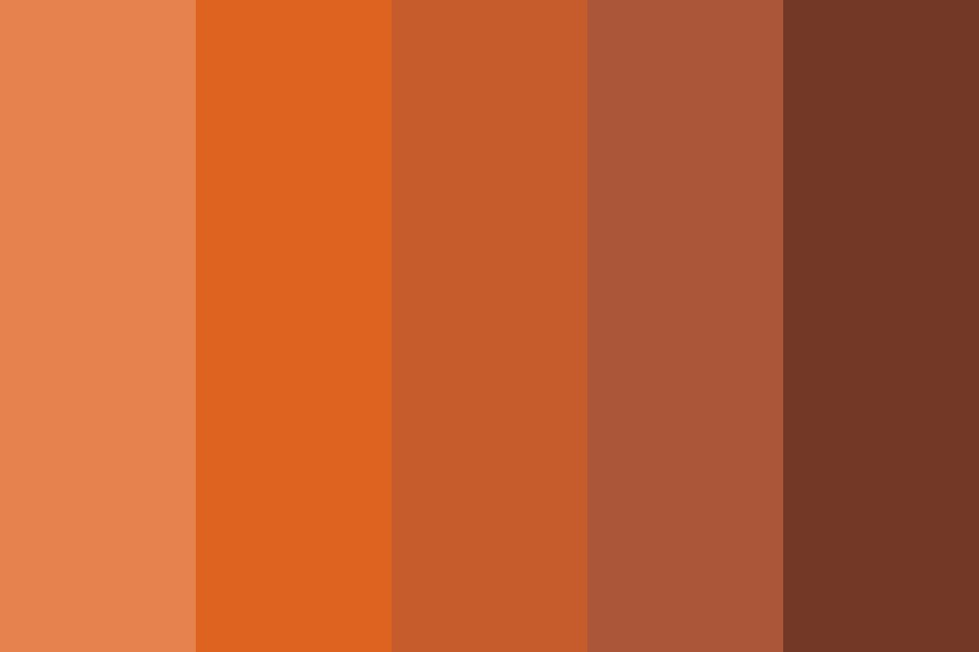 Flaming Red Hair Swatches Color Palette