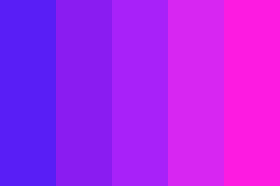 Flashing Neon Color Palette