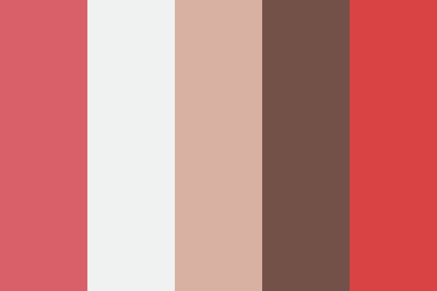 Flashy Brown Coral Color Palette