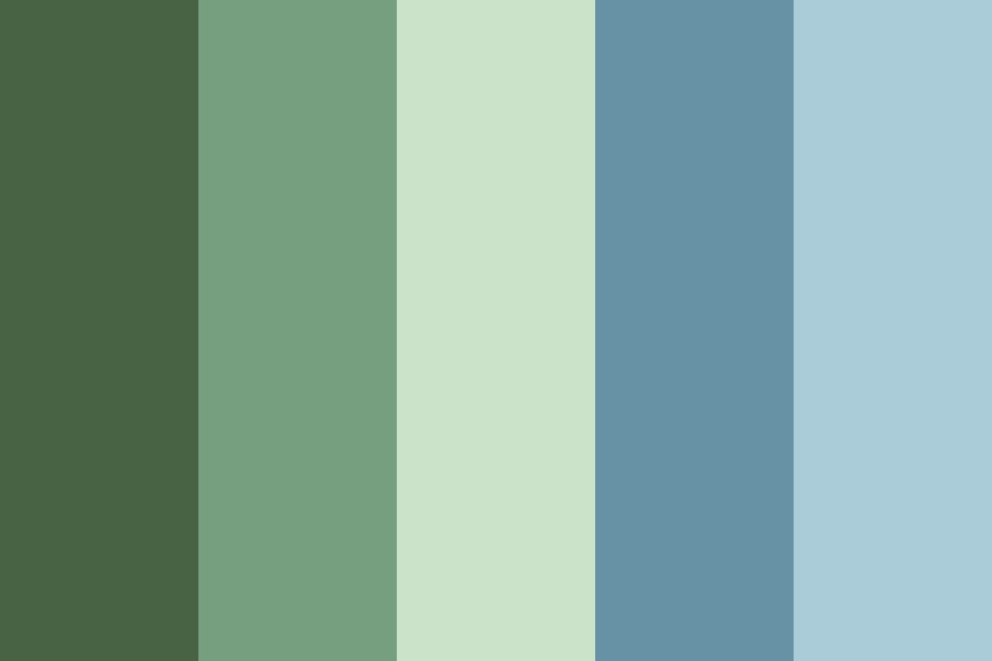 Forest Pond Color Palette