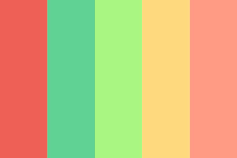 Fresh Smoothies By The Beach Color Palette