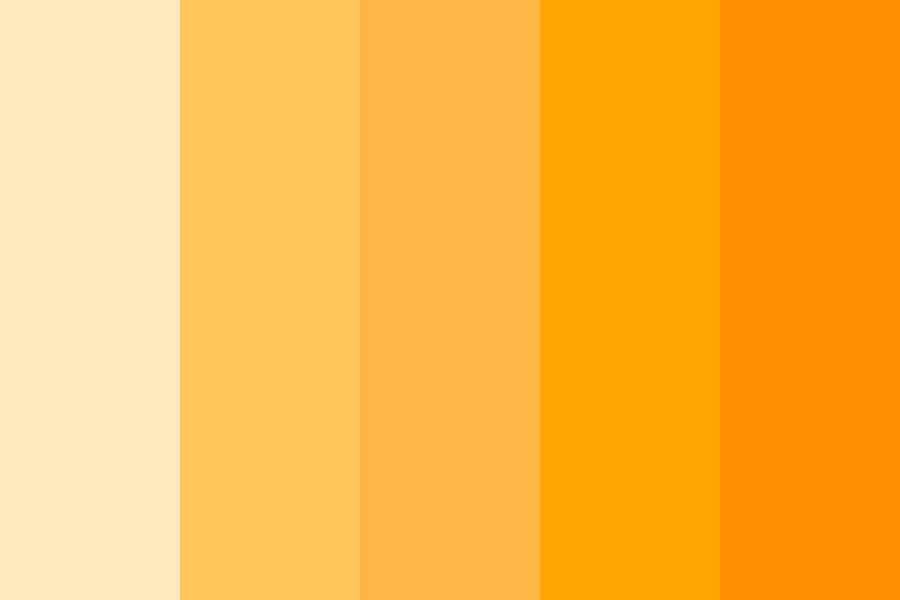 Fresh Squeezed Orange Juice Color Palette