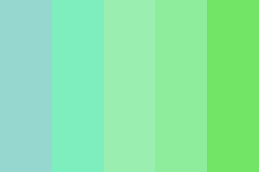 From Blue To Green Color Palette