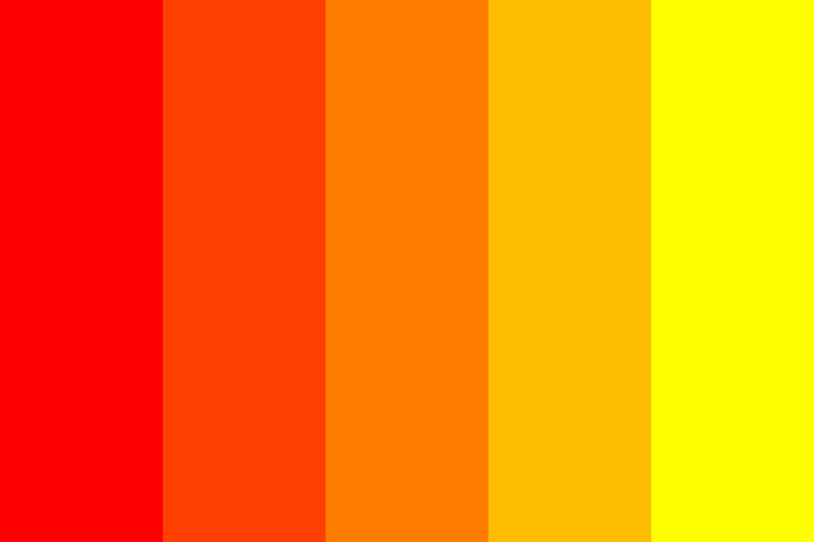 From Red To Yellow Color Palette