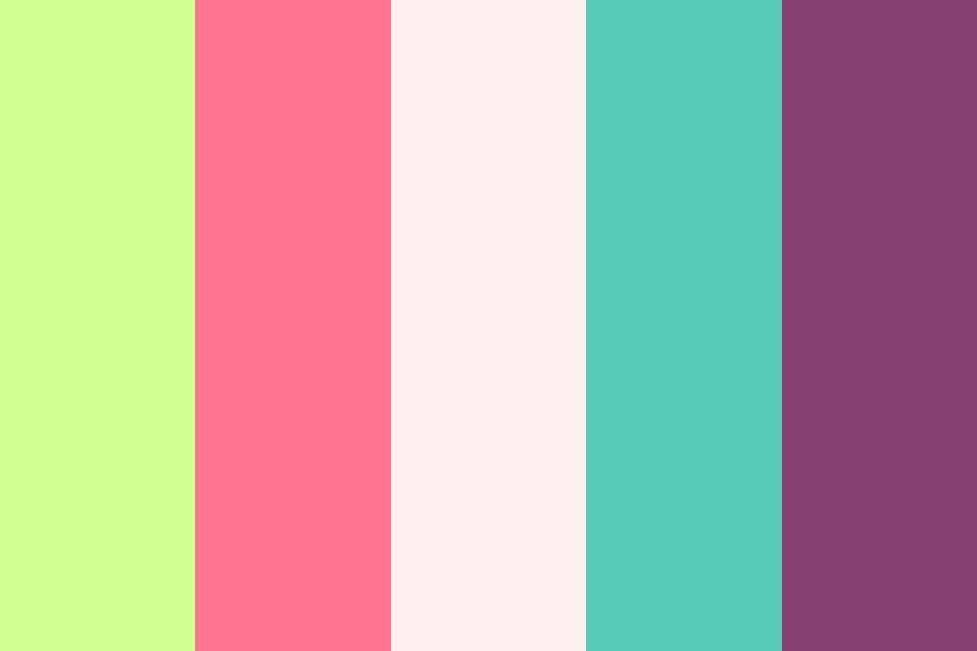 Funky Fresh Green And Pink Color Palette