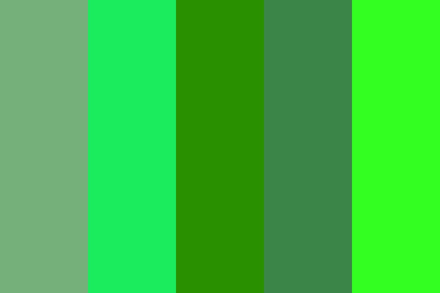 Funky Greens Color Palette