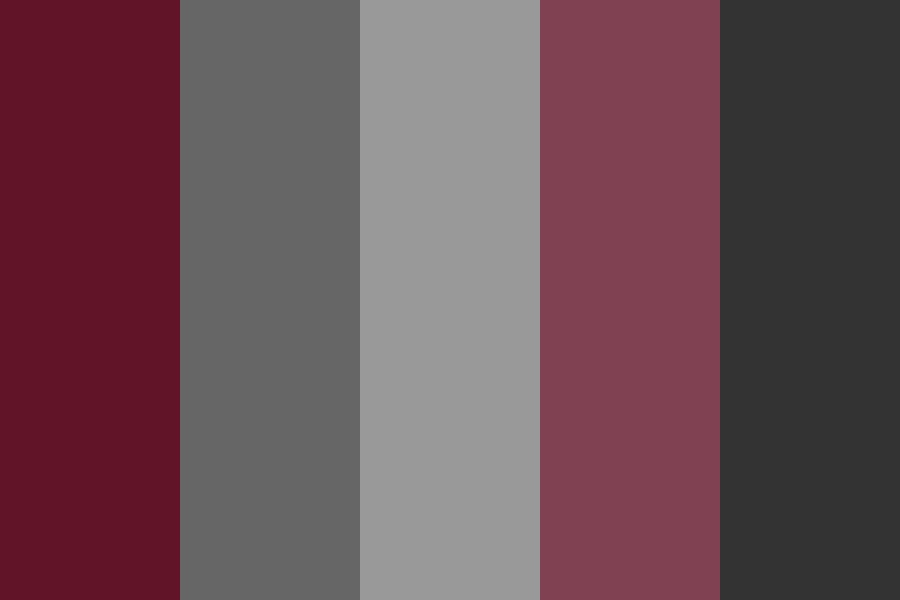 Garnet And Gray Color Palette