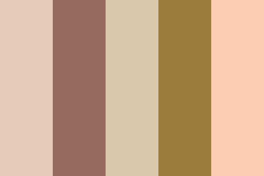 Gentle Nude And Gold Color Palette