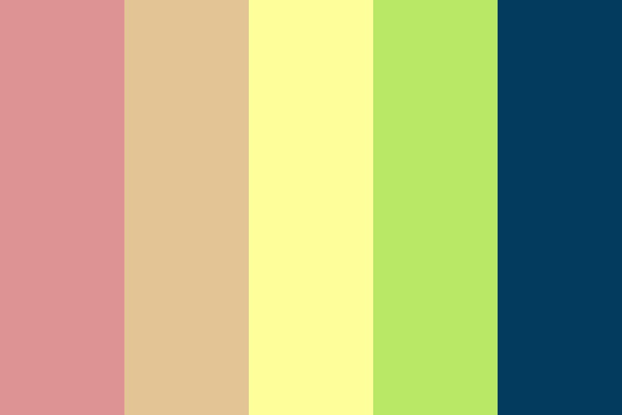 Ghostly Pale Rainbow Color Palette