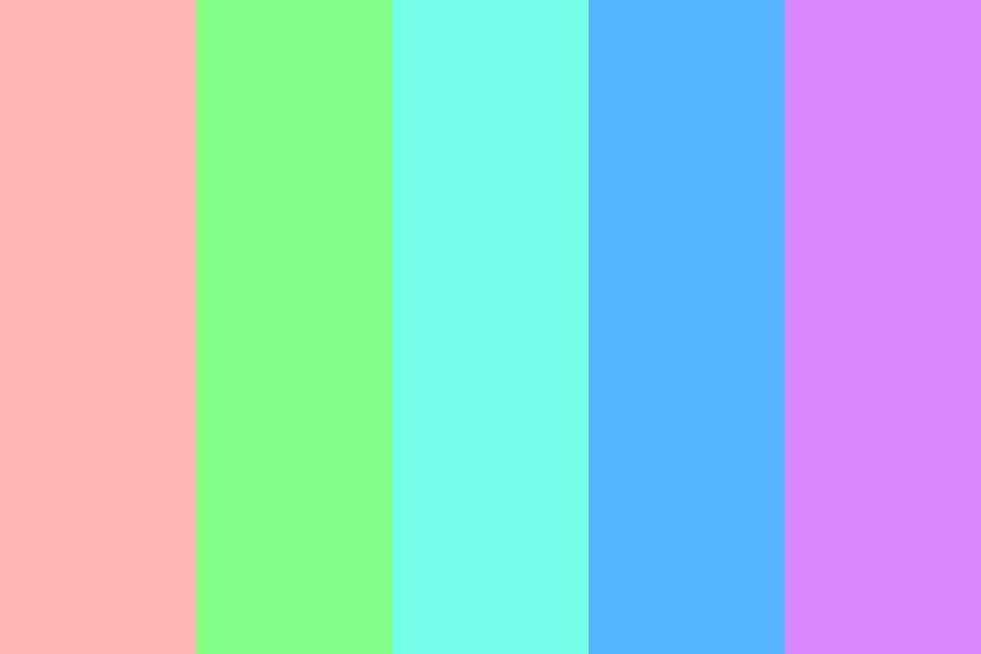 Giant Pastel Lollipop Color Palette