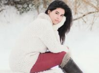Girl Winter Snow Color Palette