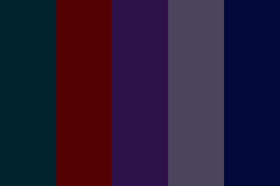 Gloomy Night Color Palette
