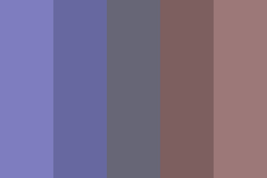 Gloomy Summer Color Palette