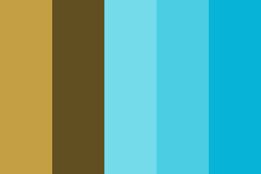 Gold And Aqua Color Palette