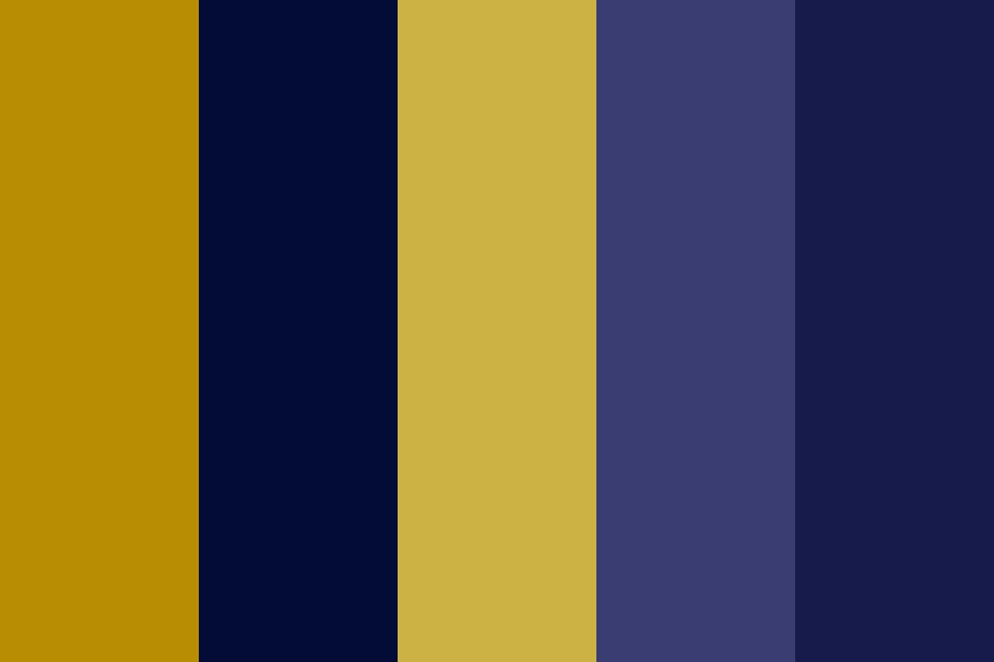 Gold And Navy Skies Color Palette