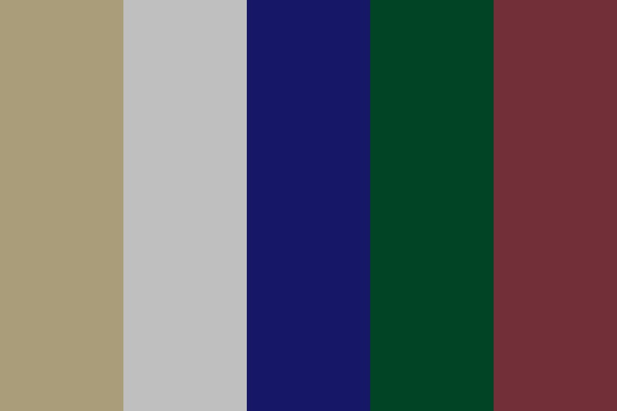Gold And Silver Midnight Color Palette