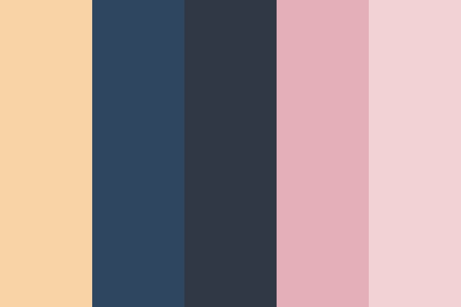 Gold Navy Pink Cl Color Palette