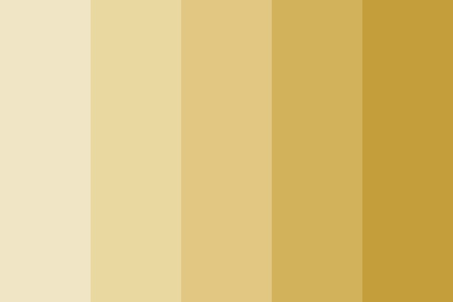 Gold Ombre Color Palette