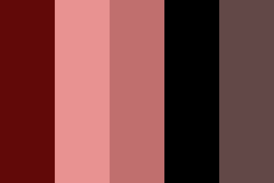 Gothic Red Tones Color Palette