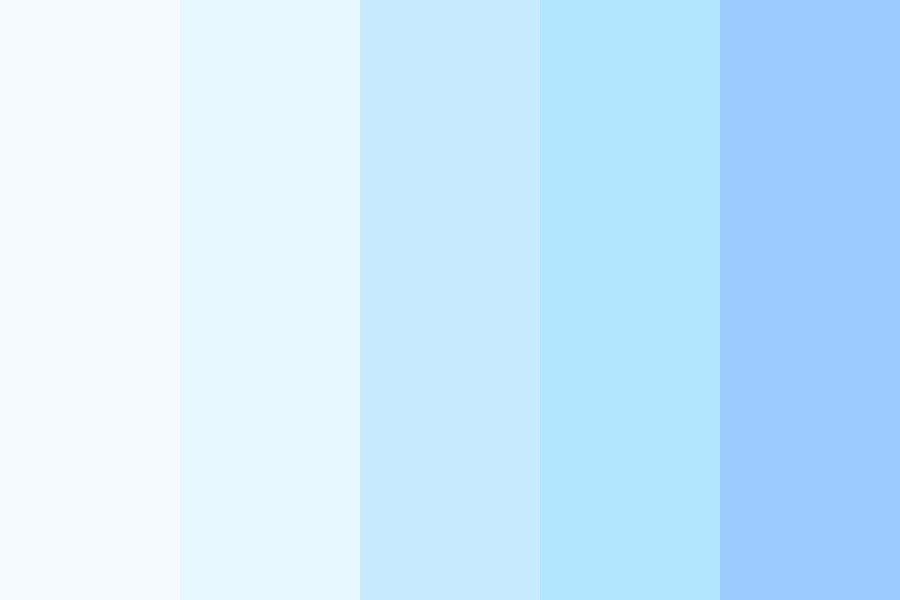 Gradient Blues Color Palette