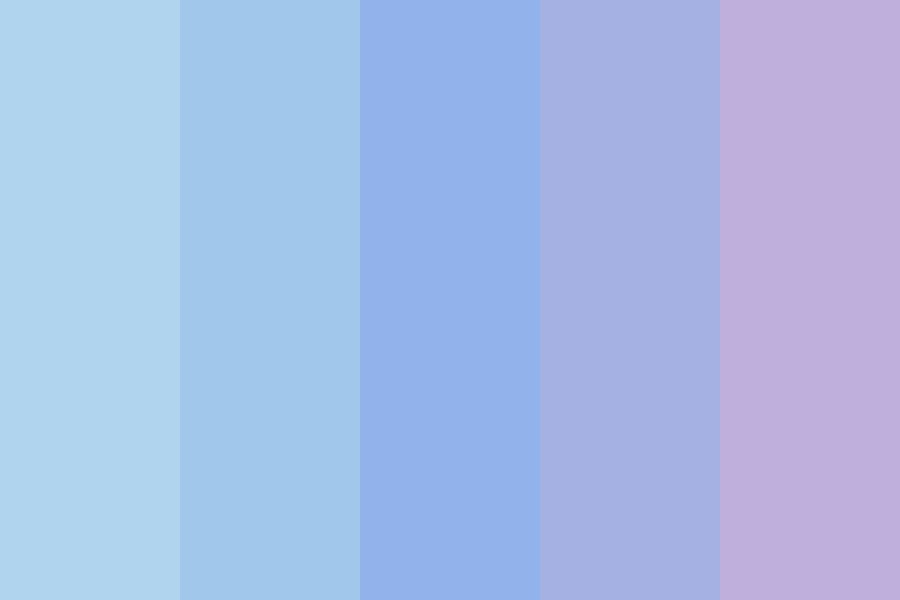 Gradient From Blue To Purple Color Palette