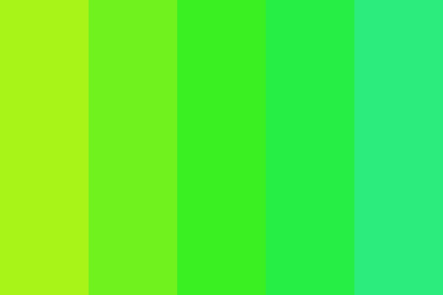 Gradientgreen Color Palette