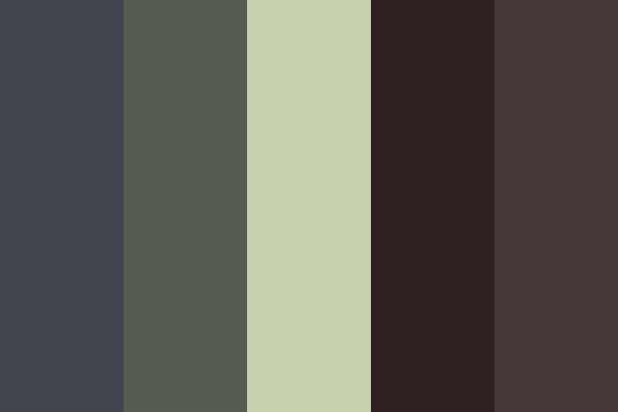 Gray And Black Color Palette